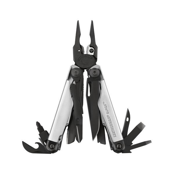 Leatherman Surge multi-tool, black and stainless steel, heavy duty, 21 tools, open view image number 0
