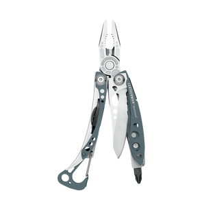 Leatherman skeletool multi-tool, blue, 7 tools, open view