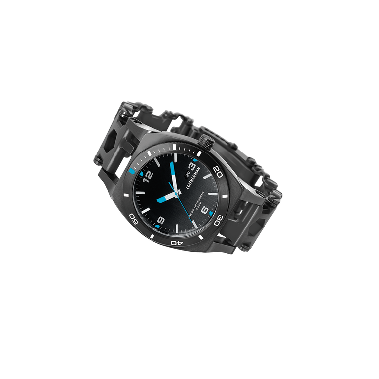 Leatherman tread tempo multi-tool watch in black, 30 tools
