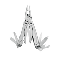 Leatherman sidekick multi-tool, stainless steel, pocket sized, 14 tools, open view