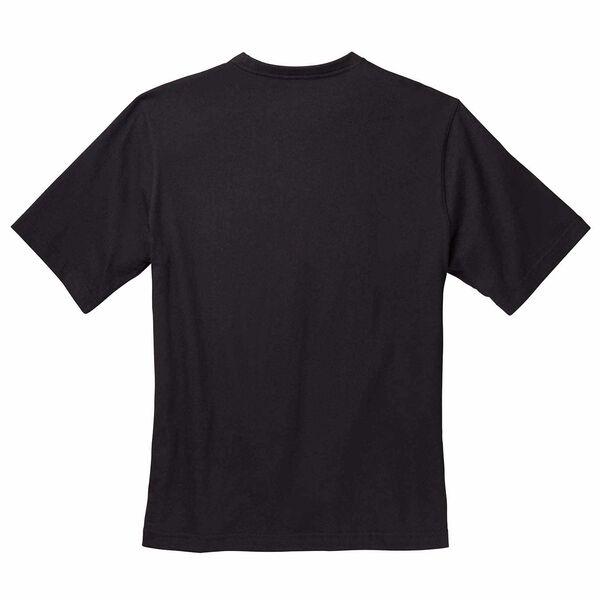 Black short sleeve T-Shirt with PST badge back side image number 1