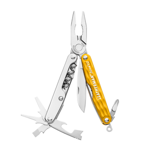 Leatherman juice c2 multi-tool, yellow, 12 tools, open view