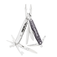 Leatherman juice cs4 multi-tool, compact, granite, 15 tools, open view