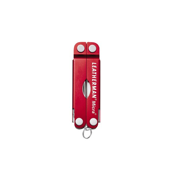 Leatherman micra multi-tool, red, 10 tools, closed view image number 1