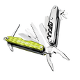 Leatherman juice xe6 multi-tool, green, 18 tools, open view