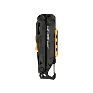Leatherman signal multi-tool, black closed, front view