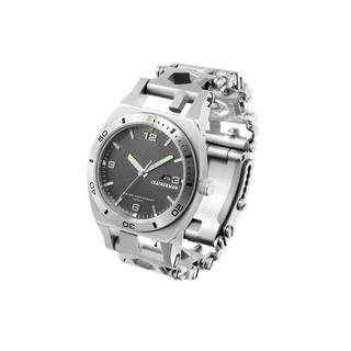 Leatherman tread tempo multi-tool watch in stainless steel, 30 tools, right side