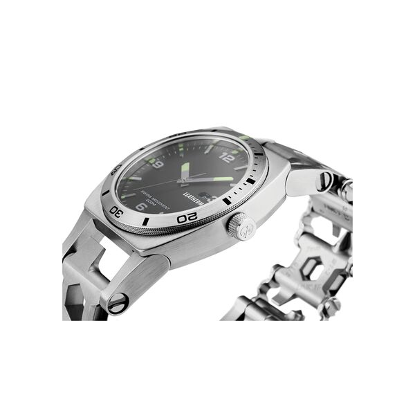 Leatherman tread tempo multi-tool watch in stainless steel, 30 tools image number 4