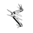 Leatherman sidekick multi-tool, stainless steel, pocket sized, 14 tools, angled open view