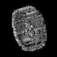 Leatherman black tread multi-tool bracelet, 29 tools, angled view