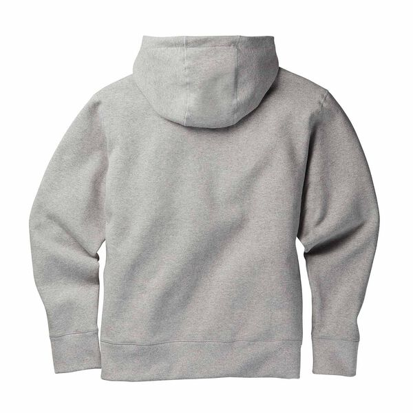 Gray basic pullover hoodie back side image number 1