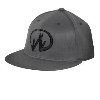 Gray Flexfit Baseball Logo Hat