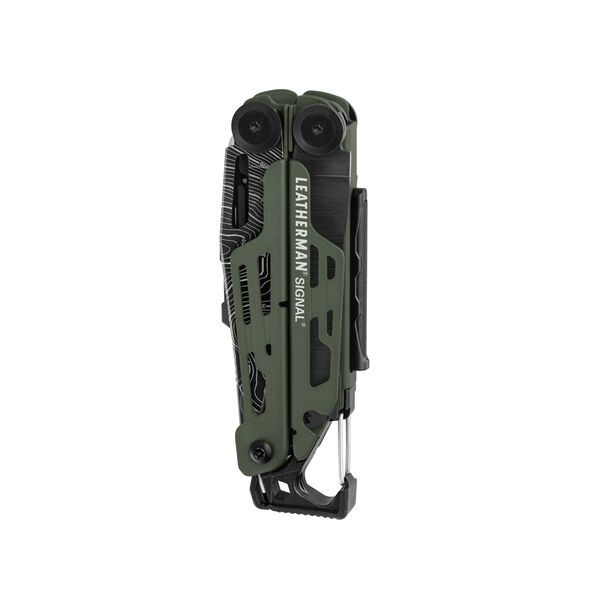Leatherman signal multi-tool, green, closed view, 19 tools image number 1