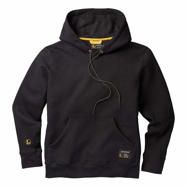 Black basic pullover hoodie front side image number 0