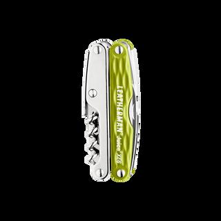Leatherman juice xe6 multi-tool, green, closed view