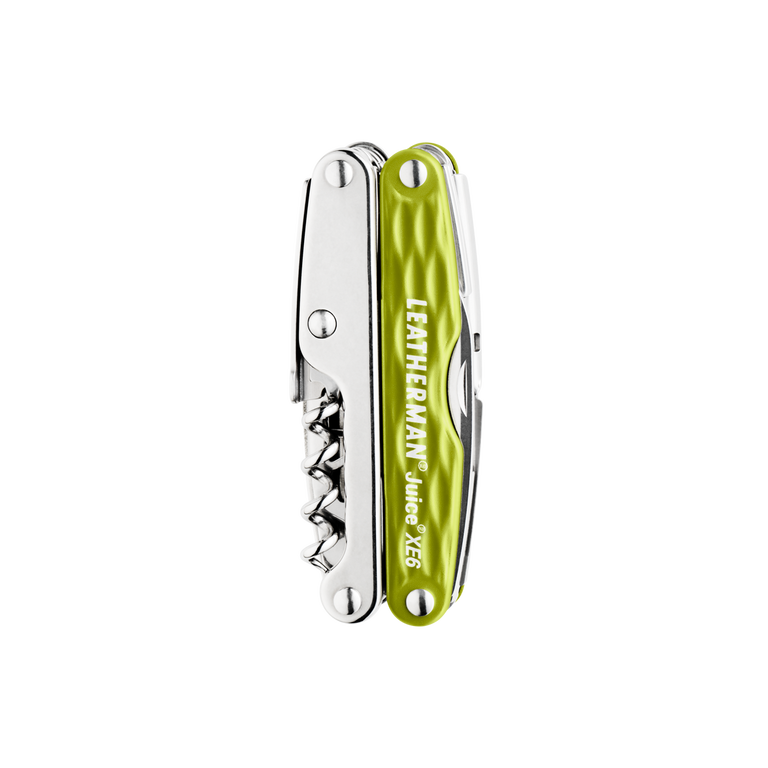 Leatherman juice xe6 multi-tool, green, closed view