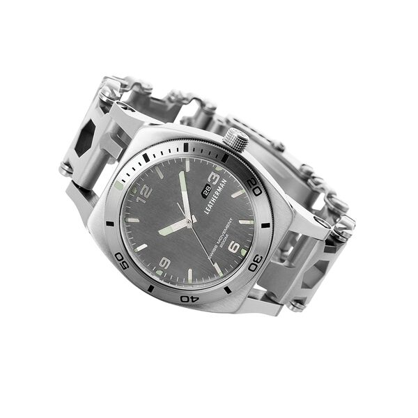 Leatherman tread tempo multi-tool watch in stainless steel, 30 tools image number 3