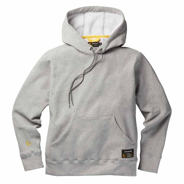 Gray basic pullover hoodie front side image number 0