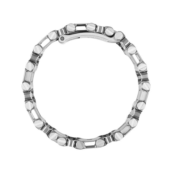 Leatherman tread multi-tool bracelet in stainless steel, side view image number 3