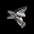 Leatherman mut eod multi-tool, open angle view, 15 tools, black