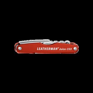 Leatherman Juice CS3 multi-tool, red, 4 tools, closed view