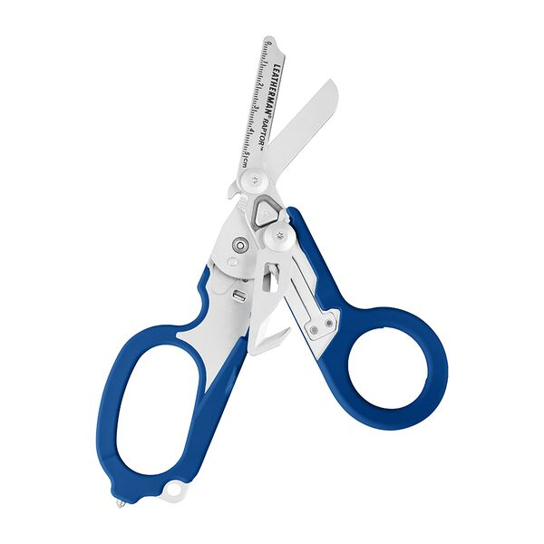 Leatherman Raptor shears, blue, open view image number 0