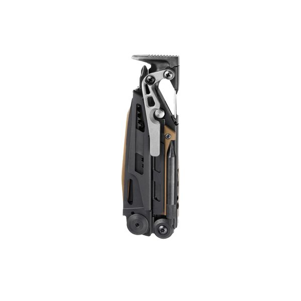 Leatherman mut eod multi-tool, closed view, back view, black image number 1