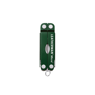 Leatherman micra multi-tool, green, 10 tools, closed view