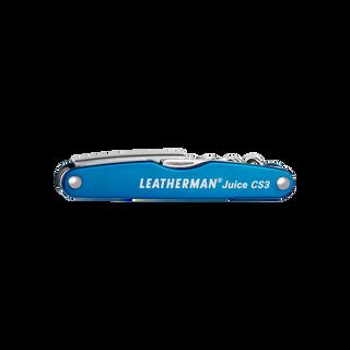 Leatherman Juice CS3 multi-tool, blue, 4 tools, closed view