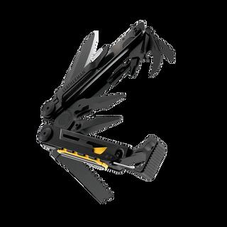 Leatherman signal multi-tool, black, beauty closed view, 19 tools