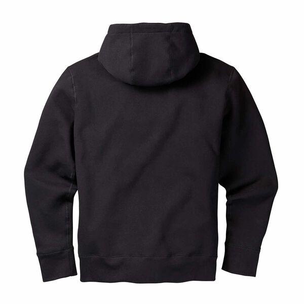 Black basic pullover hoodie back side image number 1
