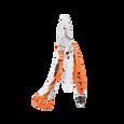 Leatherman skeletool rx multi-tool, orange, 7 tools, open view, tool for EMTs