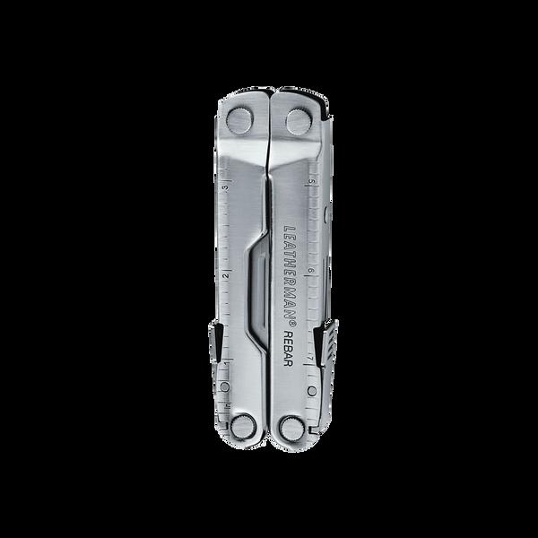 Leatherman Rebar multi-tool, stainless steel, 17 tools, open view
