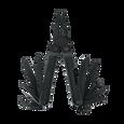 Leatherman Rebar multi-tool, black, 17 tools, open view
