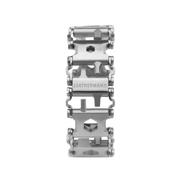 Leatherman tread multi-tool bracelet in stainless steel, frontal view image number 2