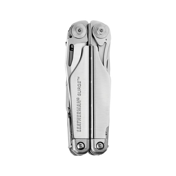 Leatherman Surge multi-tool, stainless steel, heavy duty, 21 tools, open view