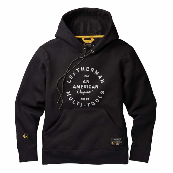 Black Pullover hoodie with heritage badge front side image number 0