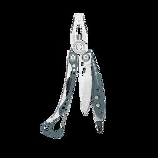 Leatherman skeletool multi-tool, blue, 7 tools, open view