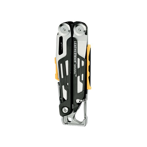 Leatherman signal multi-tool, stainless steel, closed view, 19 tools image number 1