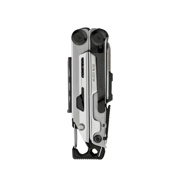 Leatherman signal multi-tool, black & silver, closed view, 19 tools image number 2