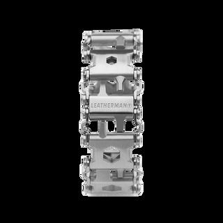 Leatherman tread multi-tool bracelet in stainless steel, frontal view