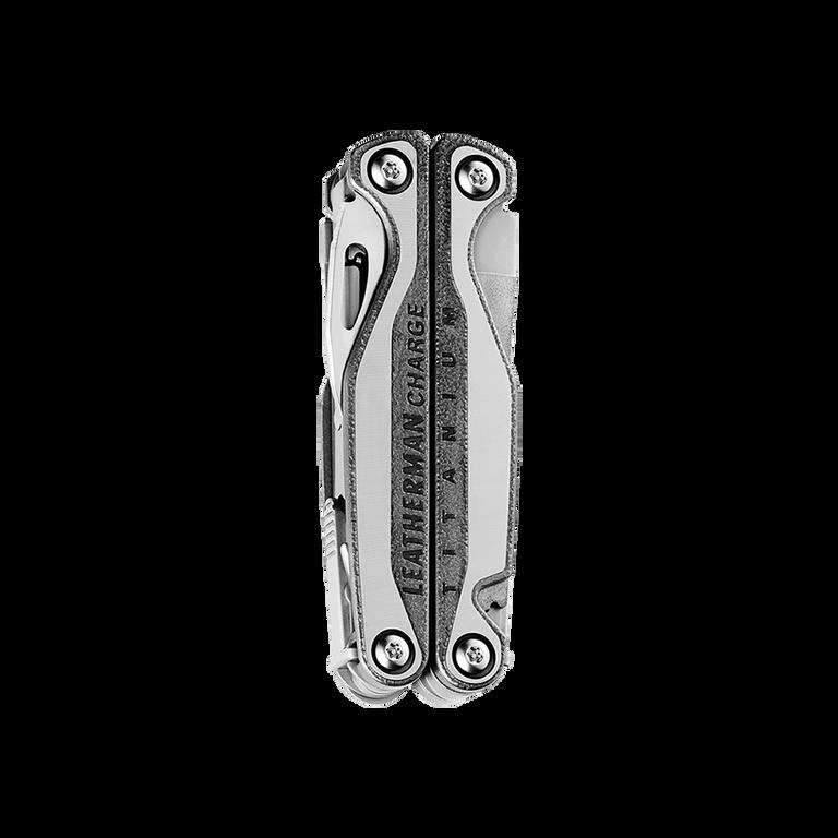 Leatherman charge plus tti titanium multi-tool, stainless steel, 19 tools, closed view
