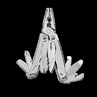 Leatherman wingman multi-tool, stainless steel, 14 tools, open view