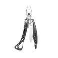 Leatherman Skeletool CX multi-tool, black and silver, 7 tools, open view