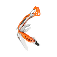 Leatherman skeletool rx multi-tool, orange, 7 tools, partially open