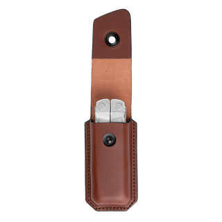 Open Medium Leather Ainsworth Sheath with Multitool Inside