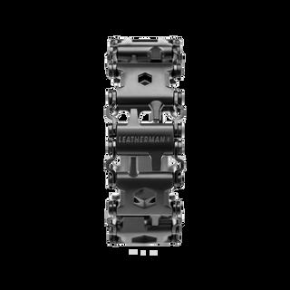 Leatherman tread multi-tool bracelet in black, frontal view