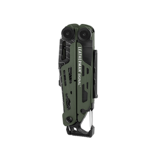 Leatherman signal multi-tool, green, closed view, 19 tools