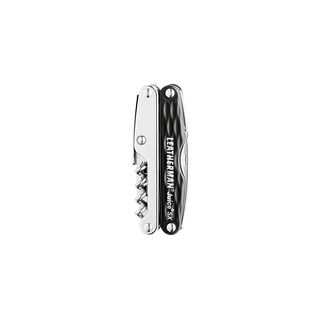 Leatherman juice SX multi-tool, black and silver, closed view