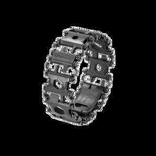 Leatherman tread multi-tool bracelet in black, 29 tools, angled view